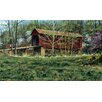 York Wallcoverings Portfolio II Rustic Covered Bridge Surrounded by the First Buds of Spring Wall Mural
