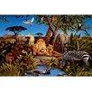 York Wallcoverings Portfolio II Jungle Scene with Animals Wall Mural