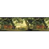 York Wallcoverings Mural Portfolio II God Forbid Heaven without Horses Border Wallpaper