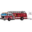 York Wallcoverings Mural Portfolio II Fire Truck and Dogs Wall Decal