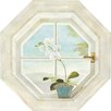York Wallcoverings Portfolio II Trompe L'oiel Octagon Window Accent Wall Mural