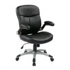 <strong>Mid Back Eco Leather Executive Chair with Adjustable Padded Flip Arms</strong> by Office Star Products