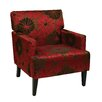Office Star Products Ave Six Carrington Groovy Red Arm Chair