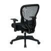 "Office Star Products Space 28"" Back Chair with Mesh Seat and Flip Arms"
