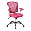 "<strong>Office Star Products</strong> Ave Six 17.5"" Mesh Peyton Task Chair with Faux Leather Seat"