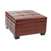 Office Star Products Ave Six Detour Strap Ottoman