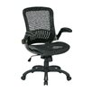 Office Star Products Work Smart Mid-Back Mesh Executive Chair with Flip Arms