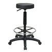 Office Star Products Height Adjustable Stool with Nylon Base