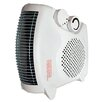 Comfort Zone Deluxe 1500 Watt Convertible Fan Space Heater with Adjustable Thermostat