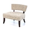 <strong>Powell Furniture</strong> Lady Slipper Tufted Fabric Slipper Chair
