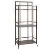 "Powell Furniture Foundry Antique Pewter Tall  51.63"" Shelf Bookcase"