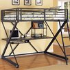 Powell Furniture Z Bedroom Full Study Loft Bed with Desk and Bookshelves