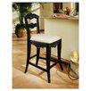 "Hills Of Provence 24""  Black Counter Stool"