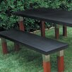 Kenji Steel and Wood Bench
