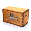 "<strong>Wooden Accessory Box With ""Wildlife Series"" Wolf Print</strong> by Evans Sports"