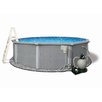 "<strong>Swim Time</strong> Round 54"" Deep 8"" Resin Top Rail Zanzibar Swimming Pool Package"
