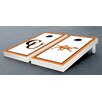 Victory Tailgate NCAA Campbell University Fighting Camels Border Wooden Alternating Cornhole Game Set