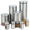 Cook N Home 8 Piece Canister & Spice Jar Set in Silver