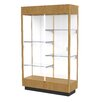 Waddell Heritage Series Floor Display Case with Lighted Cornice