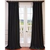 Half Price Drapes Faux Silk Taffeta Curtain Panel