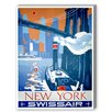 Americanflat New York Swissair Vintage Advertisement on Canvas