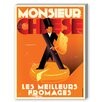 Americanflat Monsieur Cheese Vintage Advertisement Graphic Art