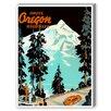 Americanflat Oregon Vintage Advertisement Graphic Art