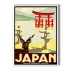 Americanflat Japan Graphic Art on Canvas