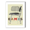 Americanflat Eames DCM Chair Graphic Art on Canvas