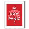 Americanflat Panic Textual Art on Canvas in Red