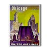Americanflat Chicago: Magnificent Mile Vintage Advertisement Graphic Art