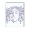 Americanflat Bob Marley Clean Graphic Art on Canvas