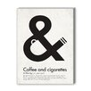 <strong>Americanflat</strong> Coffee and Cigarettes Graphic Art on Canvas