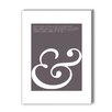 Americanflat Ampersand Love Graphic Art