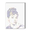 Americanflat Audrey Hepburn Graphic Art on Canvas