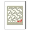 Americanflat One Red Bird Graphic Art on Canvas