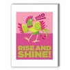 Americanflat Rise and Shine Graphic Art on Canvas in Pink