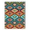 Americanflat Tribal African Fabric Pattern Graphic Art on Canvas