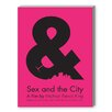 Americanflat Sex and the City Textual Art on Canvas