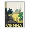 Americanflat Vienna Vintage Advertisement on Canvas