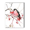Americanflat Bullfinch Painting Print on Canvas