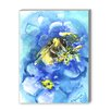 Americanflat Bee Painting Print on Canvas in Blue