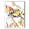 Americanflat Goldfinch 2 Painting Print on Canvas