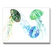 Americanflat Jelly Fishes Painting Print on Canvas