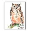 Americanflat Owl Painting Print on Canvas