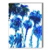 Americanflat Trees Blue Painting Print on Canvas