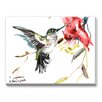 Americanflat Whimsical Hummingbird Painting Print on Canvas
