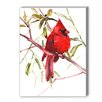 Americanflat Caridnal Bird Painting Print on Canvas
