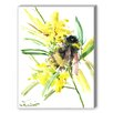 Americanflat Bee Painting Print on Canvas