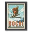 Americanflat World Travel Sochi Framed Vintage Advertisement